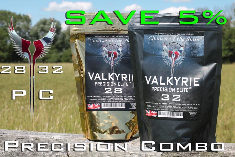 28s & 32s  Valkyrie Precision Elite Premium BBs - Precision Combo - SAVE 5% Too!