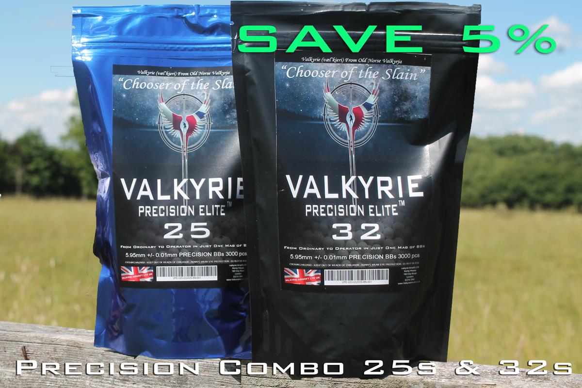 25s & 32s  Valkyrie Precision Elite Premium BBs - Precision Combo - SAVE 5% Too!